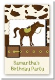 Horse - Custom Large Rectangle Birthday Party Sticker/Labels