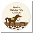Horse - Round Personalized Birthday Party Sticker Labels thumbnail