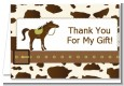 Horse - Birthday Party Thank You Cards thumbnail