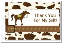 Horse - Birthday Party Thank You Cards