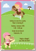 Horseback Riding - Birthday Party Invitations