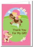 Horseback Riding - Birthday Party Thank You Cards