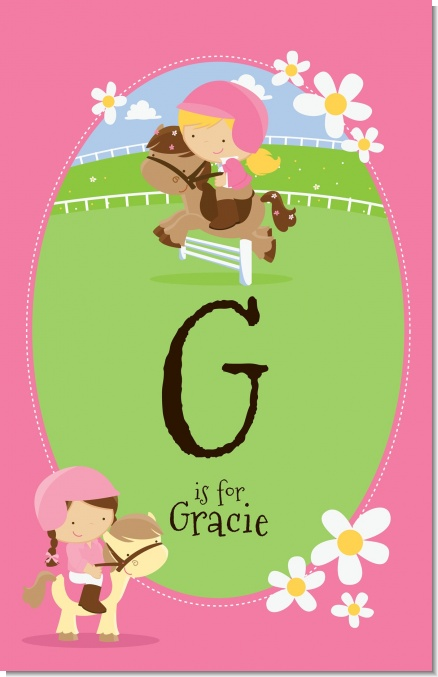 Horseback Riding - Personalized Birthday Party Wall Art