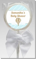 Hot Air Balloon Boy Gold Glitter - Personalized Baby Shower Lollipop Favors