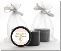 Hot Air Balloon Gold Glitter - Baby Shower Black Candle Tin Favors