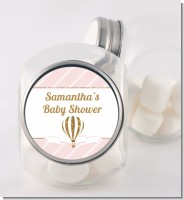 Hot Air Balloon Gold Glitter - Personalized Baby Shower Candy Jar