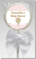 Hot Air Balloon Gold Glitter - Personalized Baby Shower Lollipop Favors
