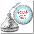 Hot Air Balloons - Hershey Kiss Christmas Sticker Labels thumbnail