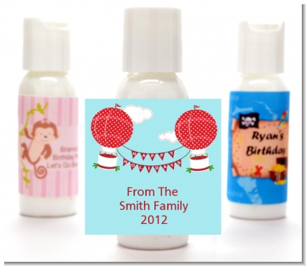 Hot Air Balloons - Personalized Christmas Lotion Favors