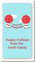 Hot Air Balloons - Custom Rectangle Christmas Sticker/Labels
