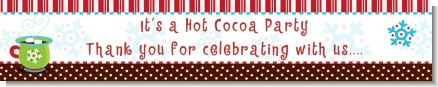 Hot Cocoa Party - Personalized Christmas Banners
