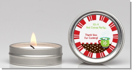 Hot Cocoa Party - Christmas Candle Favors