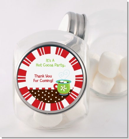 Hot Cocoa Party - Personalized Christmas Candy Jar