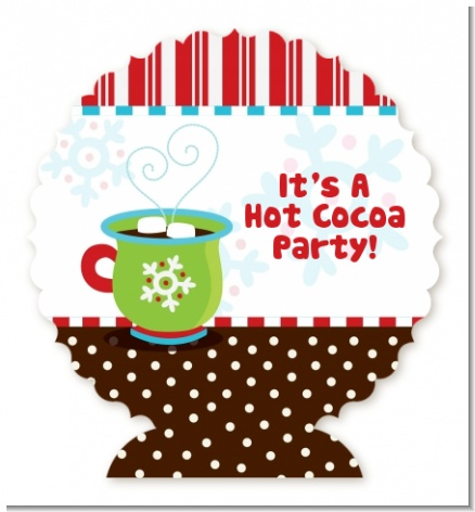 Hot Cocoa Party - Personalized Christmas Centerpiece Stand