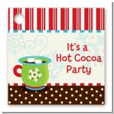 Hot Cocoa Party - Personalized Christmas Card Stock Favor Tags