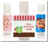 Hot Cocoa Party - Personalized Christmas Lotion Favors