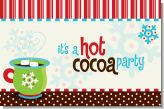 Hot Cocoa Party - Personalized Christmas Placemats