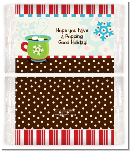 Hot Cocoa Party - Personalized Popcorn Wrapper Christmas Favors