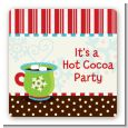 Hot Cocoa Party - Square Personalized Christmas Sticker Labels thumbnail