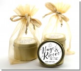 Hugs & Kisses From Mr & Mrs - Bridal Shower Gold Tin Candle Favors