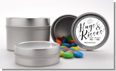 Hugs & Kisses From Mr & Mrs - Custom Bridal Shower Favor Tins