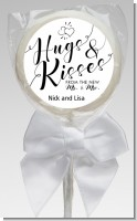 Hugs and Kisses From Mr & Mrs - Personalized Bridal Shower Lollipop Favors