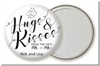 Hugs & Kisses From Mr & Mrs - Personalized Bridal Shower Pocket Mirror Favors