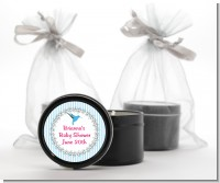 Hummingbird - Baby Shower Black Candle Tin Favors
