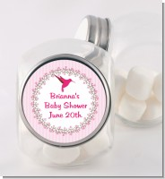 Hummingbird - Personalized Baby Shower Candy Jar