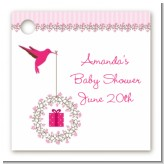Hummingbird - Personalized Baby Shower Card Stock Favor Tags