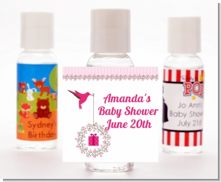 Hummingbird - Personalized Baby Shower Hand Sanitizers Favors