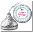 Hummingbird - Hershey Kiss Baby Shower Sticker Labels thumbnail
