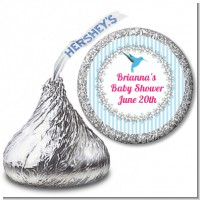 Hummingbird - Hershey Kiss Baby Shower Sticker Labels
