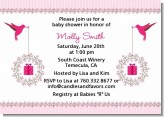 Hummingbird - Baby Shower Invitations