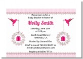 Hummingbird - Baby Shower Petite Invitations