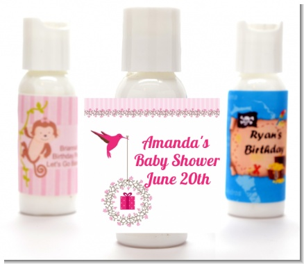 Hummingbird - Personalized Baby Shower Lotion Favors