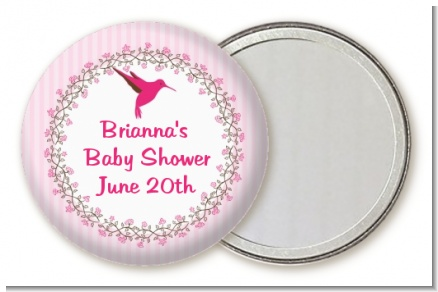 Hummingbird - Personalized Baby Shower Pocket Mirror Favors