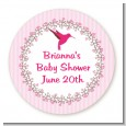 Hummingbird - Round Personalized Baby Shower Sticker Labels thumbnail