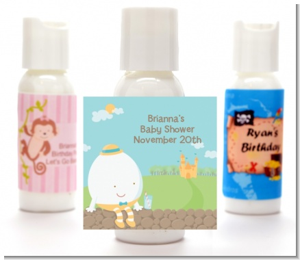 Humpty Dumpty - Personalized Baby Shower Lotion Favors