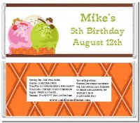 Ice Cream - Personalized Birthday Party Candy Bar Wrappers