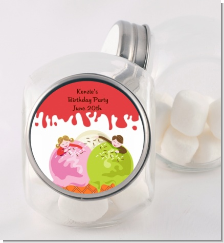 Ice Cream - Personalized Birthday Party Candy Jar