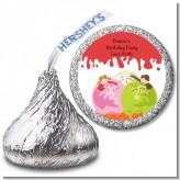 Ice Cream - Hershey Kiss Birthday Party Sticker Labels