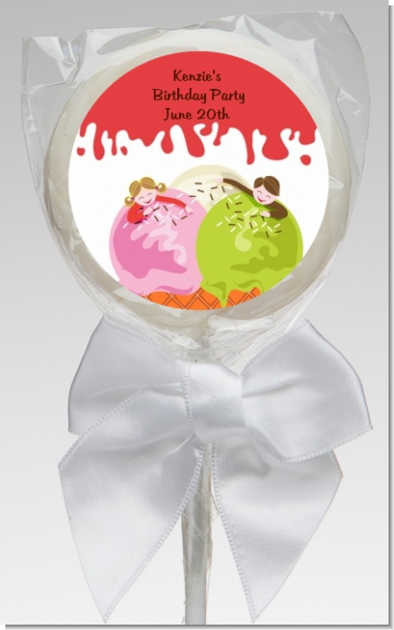 Ice Cream - Personalized Birthday Party Lollipop Favors