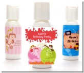Ice Cream - Personalized Birthday Party Lotion Favors