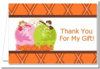 Ice Cream - Birthday Party Thank You Cards