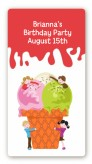 Ice Cream - Custom Rectangle Birthday Party Sticker/Labels