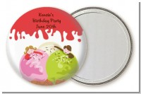Ice Cream - Personalized Birthday Party Pocket Mirror Favors