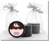 Ice Skating African American - Birthday Party Black Candle Tin Favors