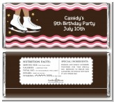Ice Skating African American - Personalized Birthday Party Candy Bar Wrappers