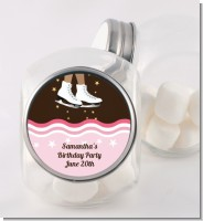 Ice Skating African American - Personalized Birthday Party Candy Jar